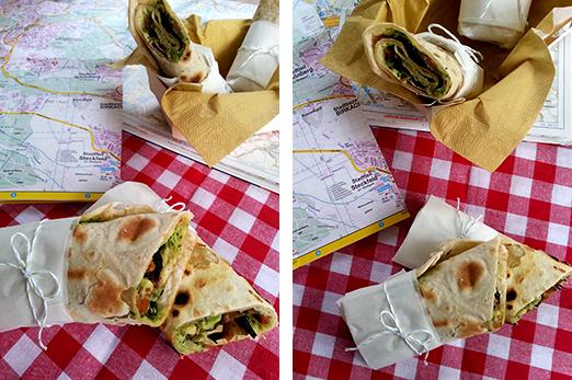 Wraps mit gegrilltem Gemüse Guacamole vegan Foodblog Holunderweg 18