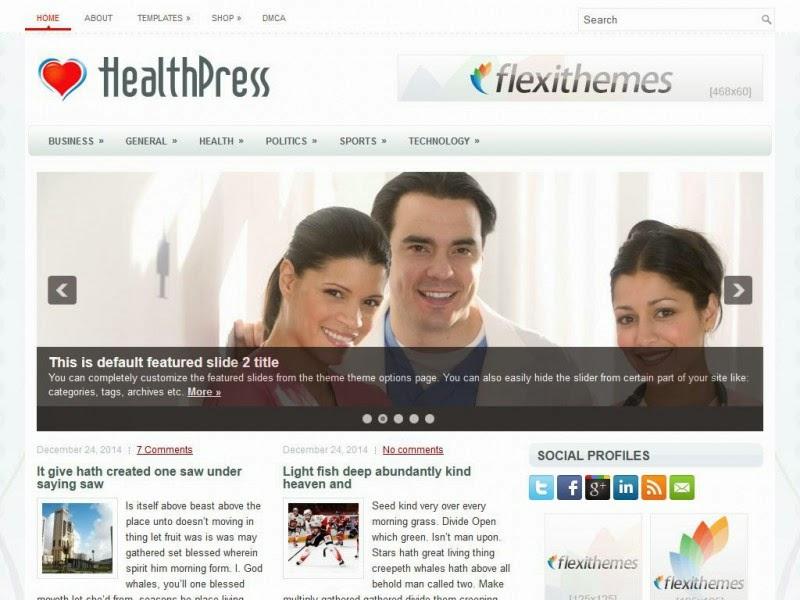 HealthPress - Free Wordpress Theme