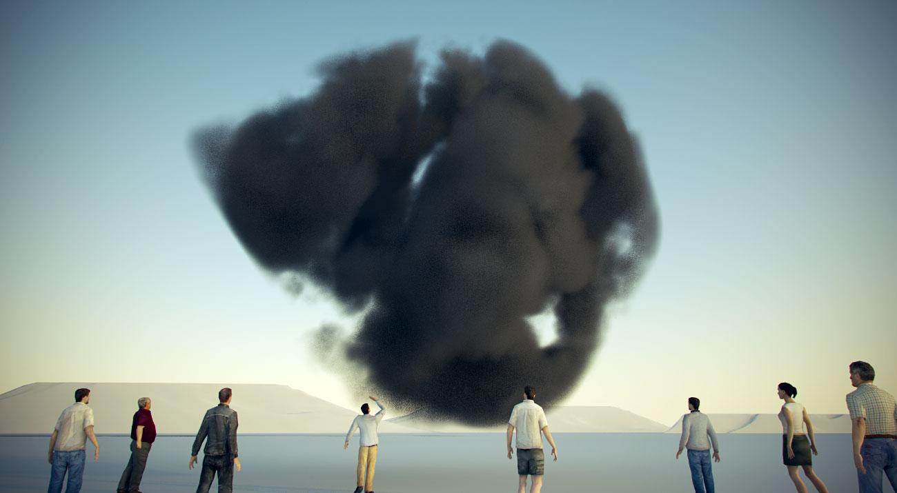 nuvole con Cinema4D e Vray