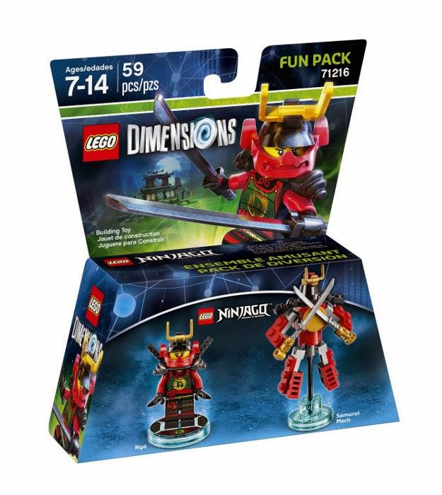 TOYS - LEGO Dimensions  71216 Ninjago Fun Pack | Figura - Muñeco   Nya & Samurai Mech  [27 septiembre 2015] | Juguetes & Videojuegos  Xbox One, PlayStation 4, Nintendo Wii U, PlayStation 3, Xbox 360  Piezas: 59 | Edad: 7-14 años