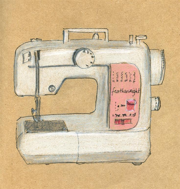 Old Singer Sewing Machine Drawings http://emusing-emma.blogspot.com/2012_07_01_archive.html