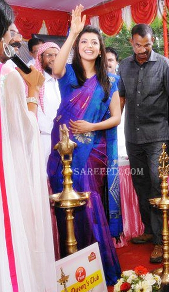 Kajal-agarwal-Karikkineth-silks-inauguration-Kottayam