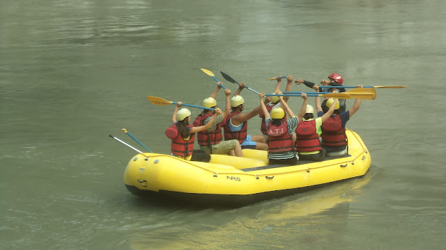 Rafting in ganaga river in Risikesh