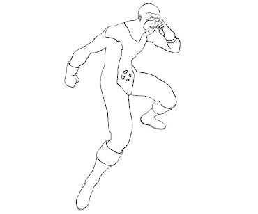 #4 Cyclops Coloring Page