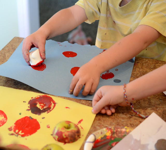 marshmallow stamps, paint with marshmallows