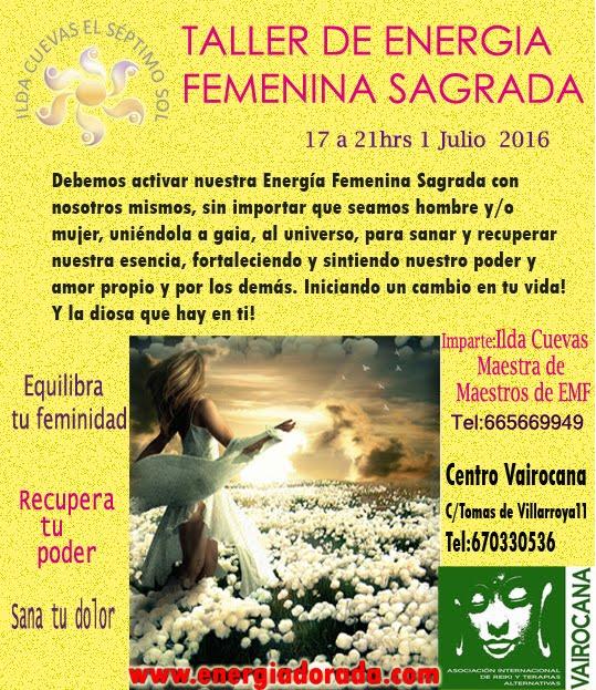 TALLER DE ENERGÍA FEMENINA SAGRADA
