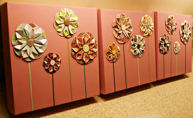 embrulhos e sacolas para presentes Folded+flowers1
