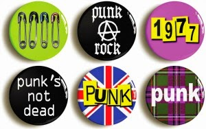 Punk button badges