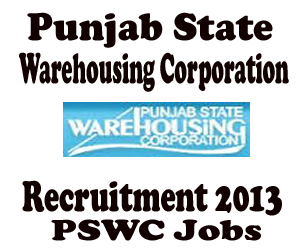 Punjab State Warehousing Corporation (PSWC) Chandigarh Recruitment of Warehouse Manager, Technical Assistant, Accounts Clerks 2013