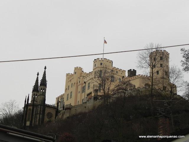 O lindo Schloss Stolzenfels, pertinho de Koblenz
