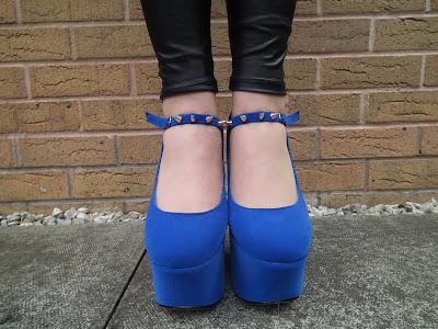 Sammi Jackson blue spike stud shoes