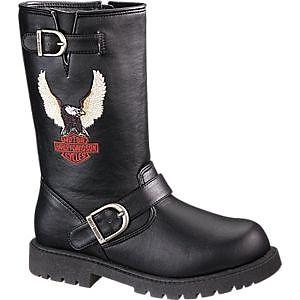 Kid Boots Harley Davidson2