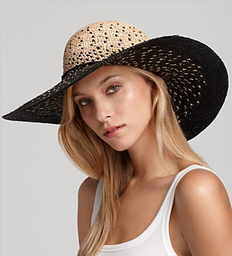 Ombre Floppy Straw Hat