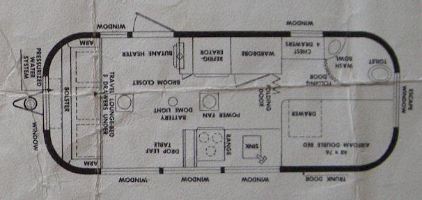 The luna phases original 1956 airstream caravanner for 1976 airstream floor plans