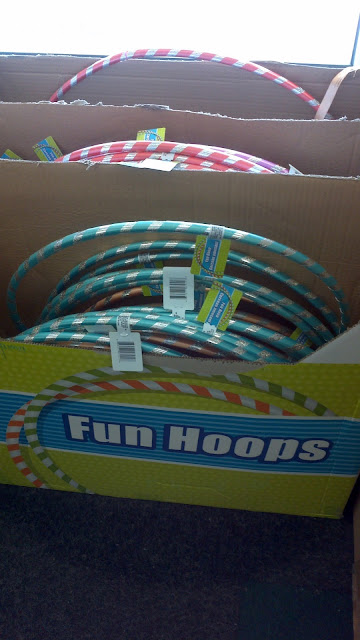 dollar store hula hoops, fun hoops, cheap