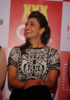 Actress Kajal Aggarwal and Huma Qureshi Latest Pictures at Launch of 100 Hearts A Social Initiative By CCL  17.jpg