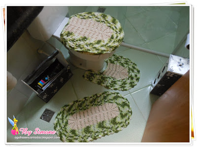 Jogo de banheiro crochê facílimo, jogo de banheiro crochê