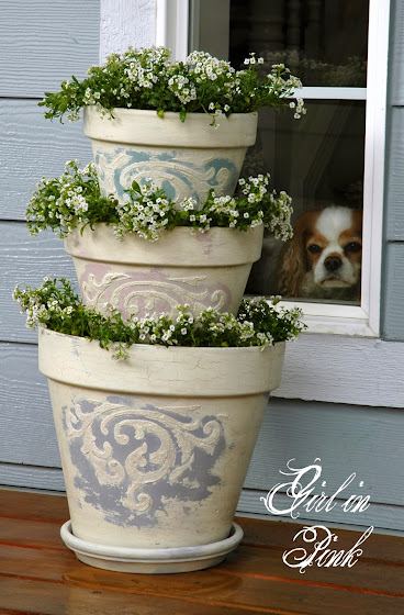 Girl in pink how to create beautiful finishes on flower pots and seal them for outdoor use for How long for exterior paint to cure