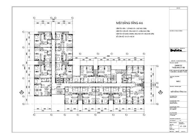 Mặt bằng tầng 4-6 chung cư Valencia Garden