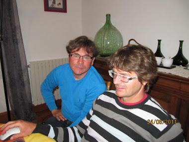 Jean-Christophe, président de l'AFL, et moi-même.