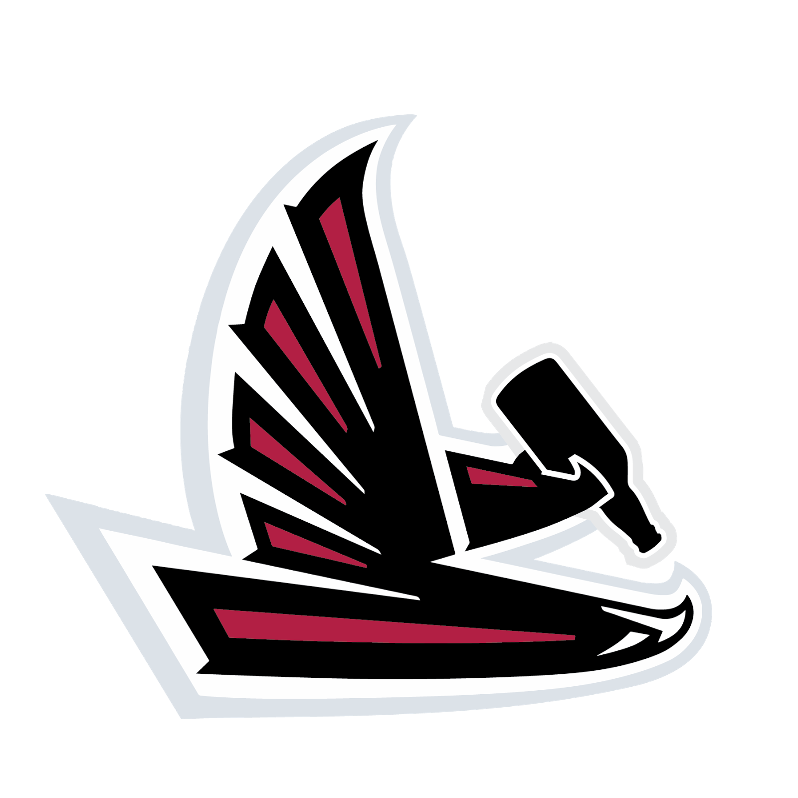 Atlanta Falcons, metal, logo, re-imagined