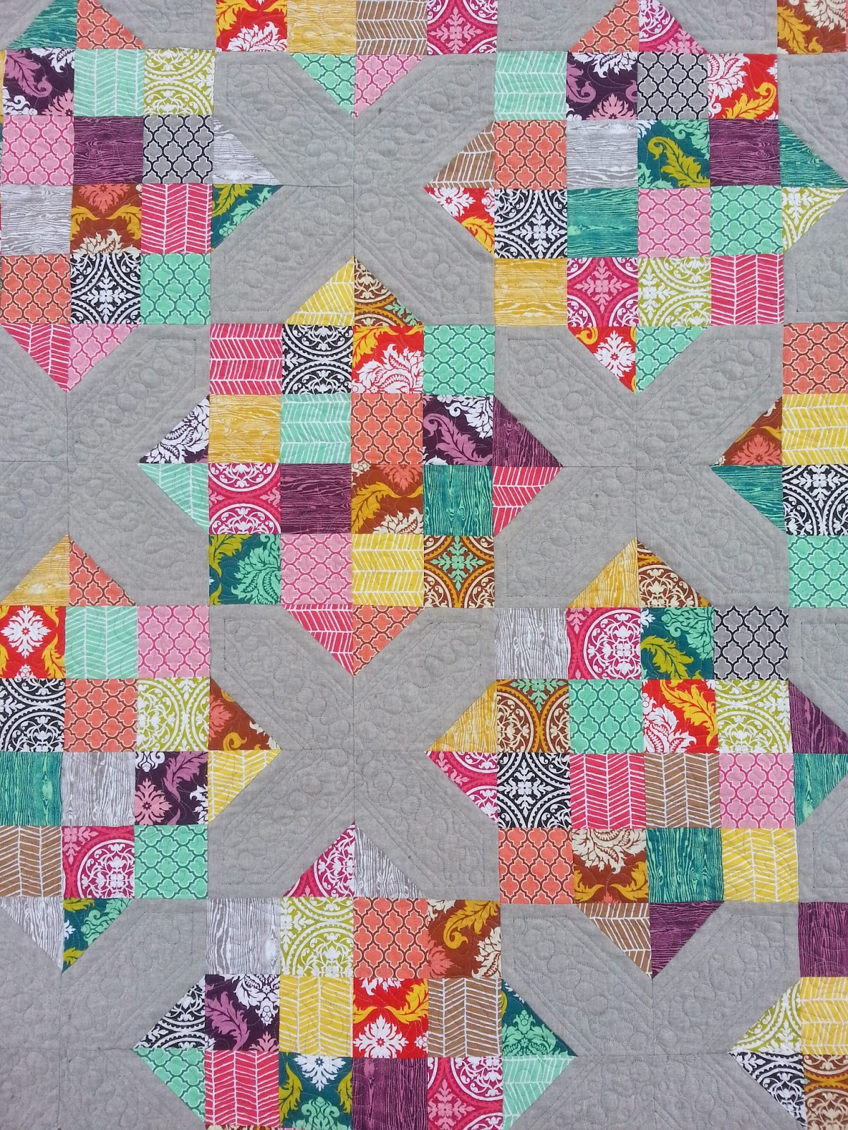 Quilting Texture on Arkansas Crossroads Quilt