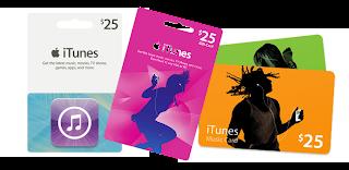 Cartões iTunes para conta Americana