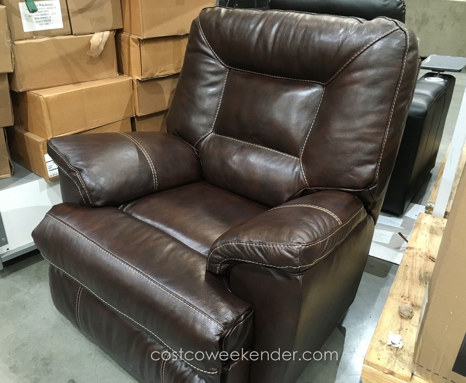Berkline leather rocker recliner chair costco weekender for Berkline furniture chaise lounge