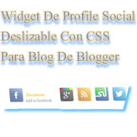 Widget de profile social deslizable para blogger