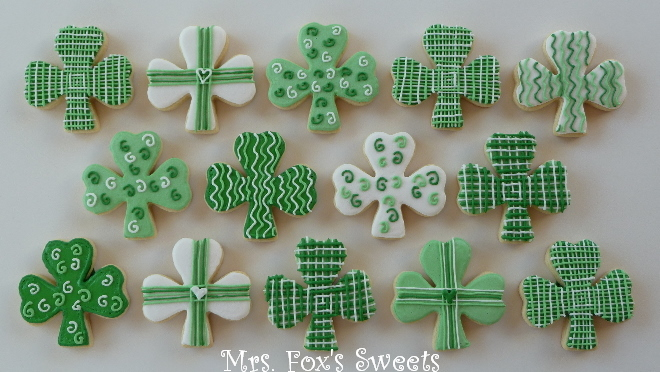 St. Patrick's Day Shamrock Cookies | Brown Eyed Baker
