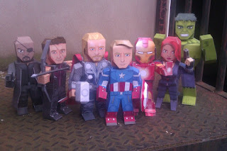 The Avengers Papercraft Model