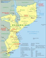 Mozambique Mineral & Oil Map