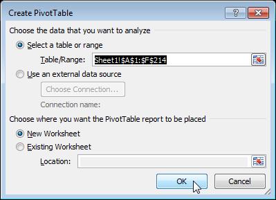 sử dụng pivottable trong excel để lập báo cáo 1