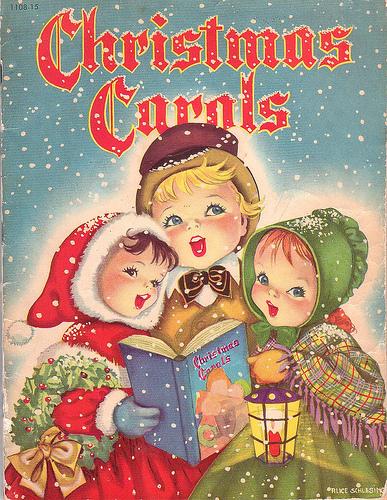 caroling caroling through the snow christmas bells are ringing