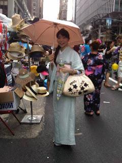 Kimono House NY - Lady with Parasol in Kimono