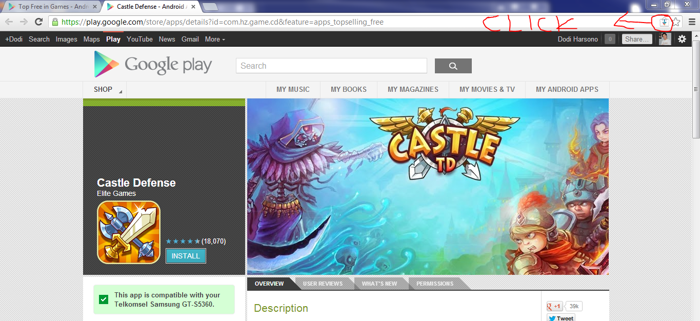 download apk google play lewat pc