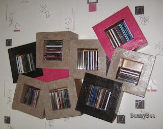cd cubes en carton