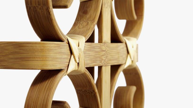 Banco de Bambu Doblado, Muebles de Materiales Naturales y Sostenibles