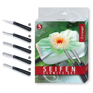soap and fruit carving tool set triangle