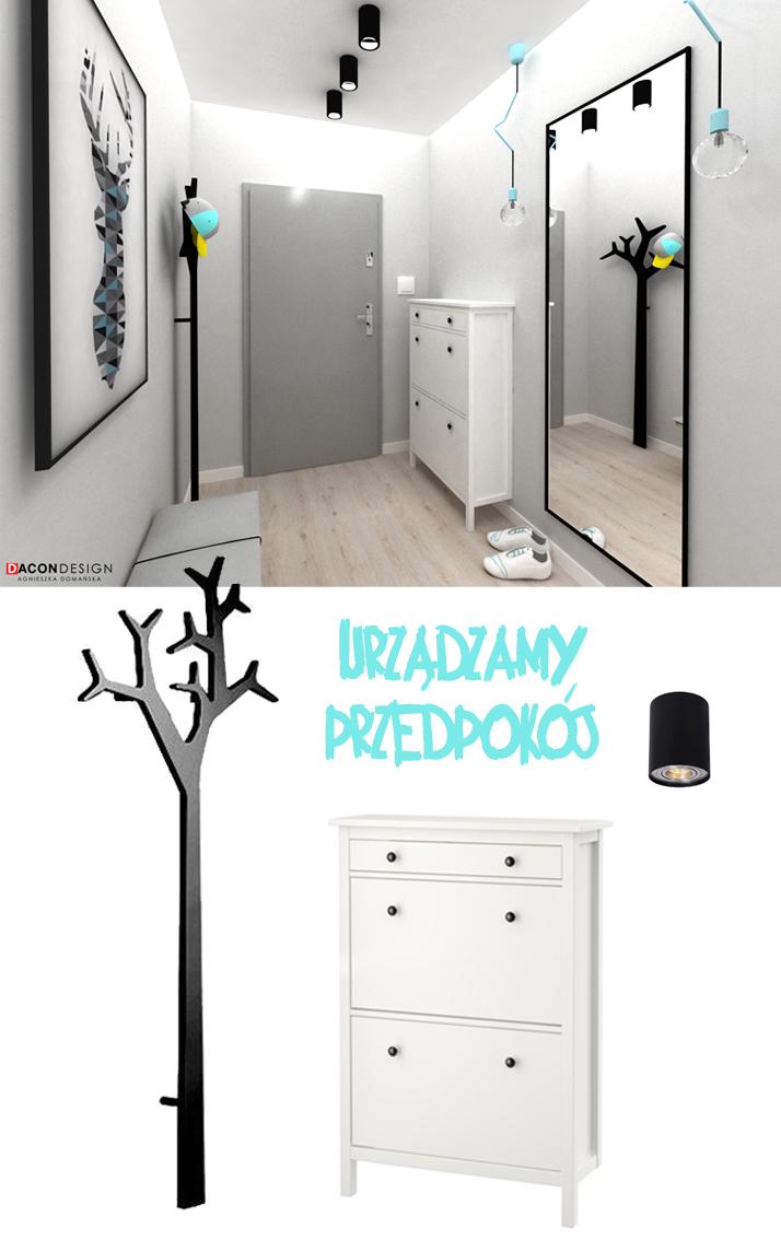 Dacon-Design-architekt-przedpokoj-wieszak-lawka-oswietlenie-szafa-lustro-lampa