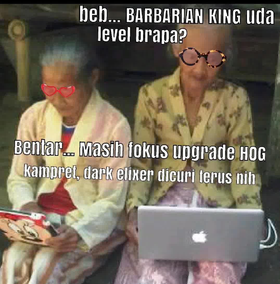 DP BBM Meme Nenek-nenek Main COC Gokil