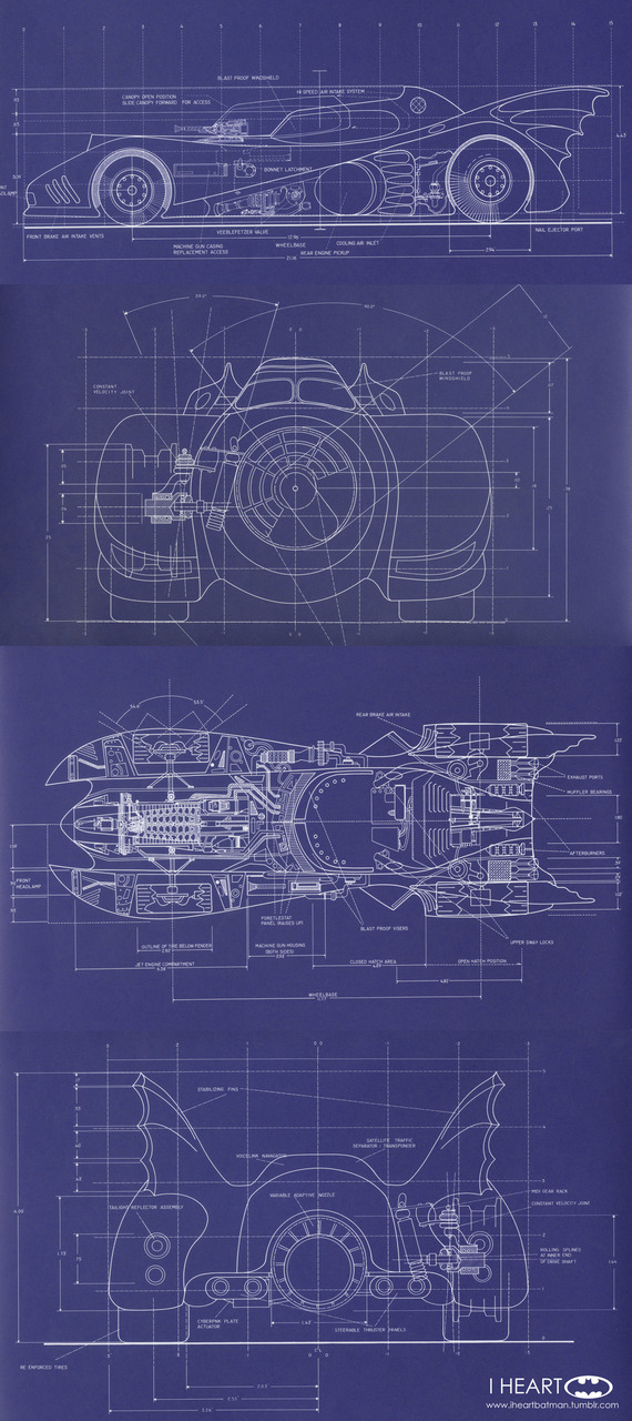 The Dork Review: Rob\'s Room: Batmobile Blueprints & Schematics (mostly)