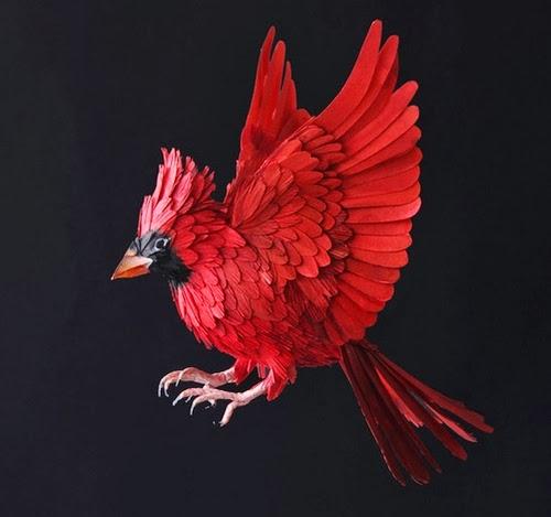 06-Cardinal-Paper-Bird-Sculptures-Colombian-Artist-Diana-Beltran-Herrera-www-designstack-co