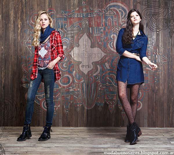 Moda otoño invierno 2014 jeans Rimmel otoño invierno 2014.