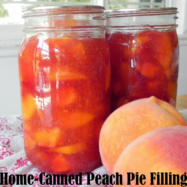 Gift of simplicity home canned peach pie filling happy for Peach pie recipe with canned peaches