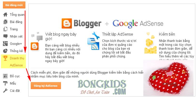 Cách tạo và đăng ký Google AdSense cho Blogspot Blogger 12