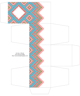 Chevron Printable Box