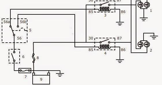 materi otomotif kelistrikan rangkaian lampu kepala rh farlanmorasta blogspot com