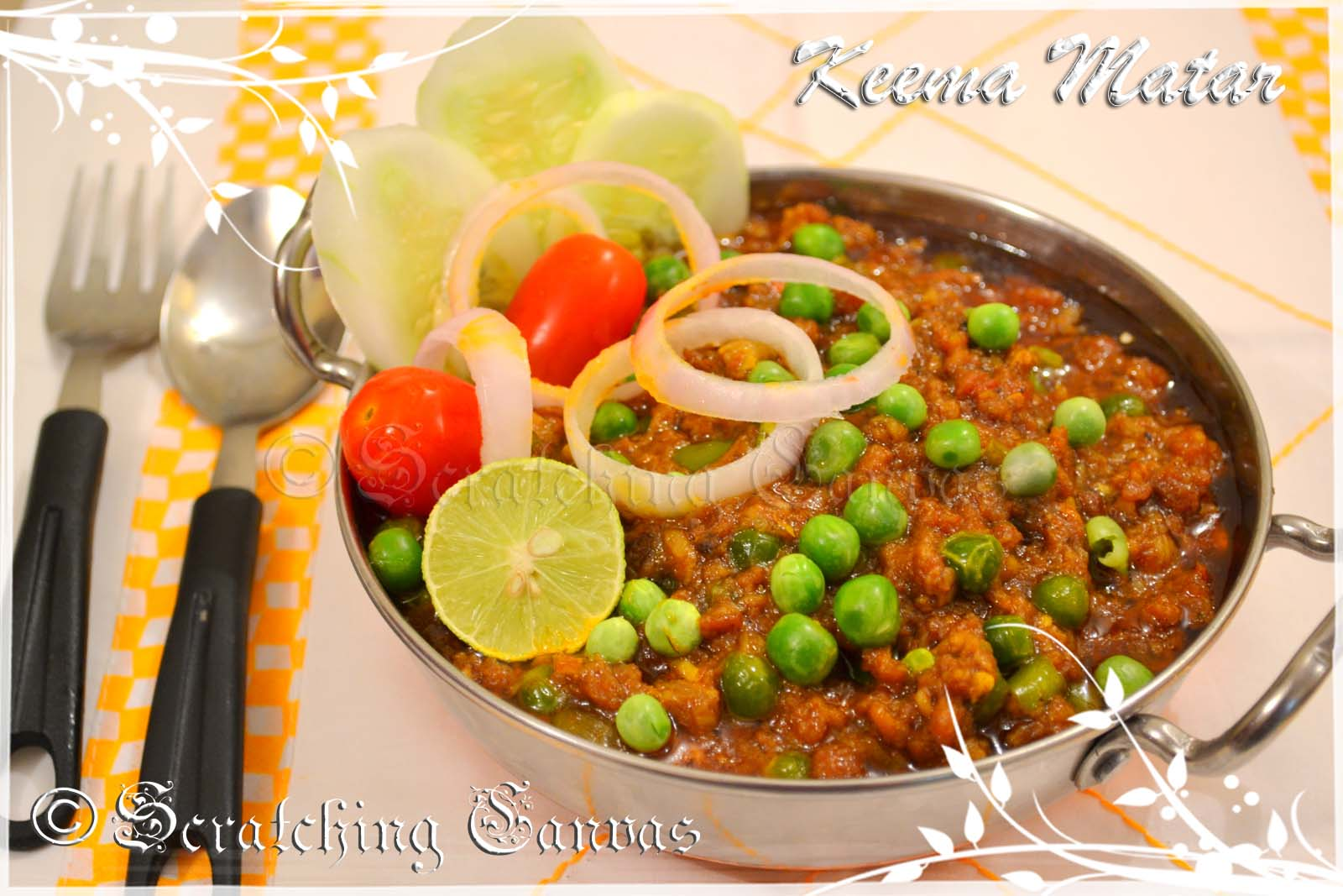 Recipe | Keema Matar : Minced Mutton Gravy with Peas | Scratching ...