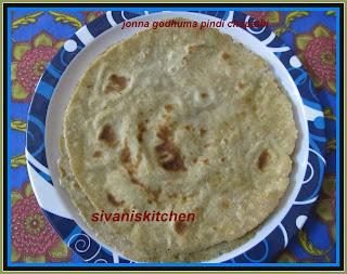 wheat flour jowar flour chapati